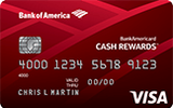 BankAmericard Cash Reward Credit Card for Students