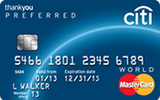 Citi ThankYou Preferred Card for College Students